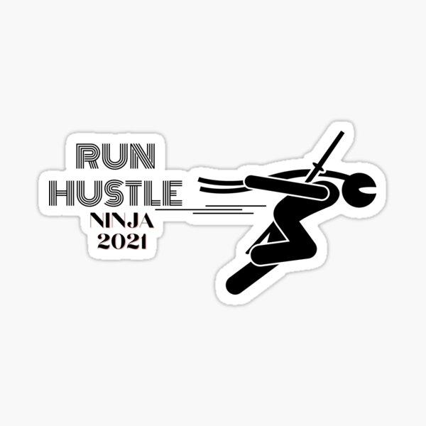 run hustle Sticker