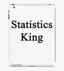 Statistics King  iPad Case/Skin
