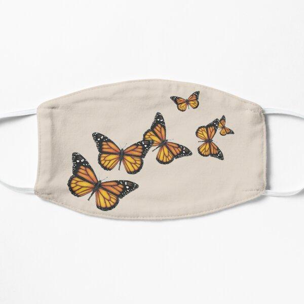 Monarch Butterfly Rapsody, Cute Colorful Butterflies Flat Mask