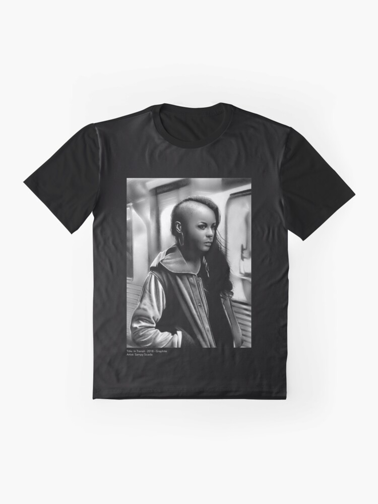 Alternate view of In Transit (Graphite drawing) Graphic T-Shirt