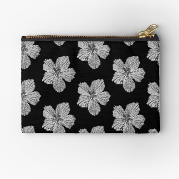 Sketched Hibiscus - Digital Art Zipper Pouch