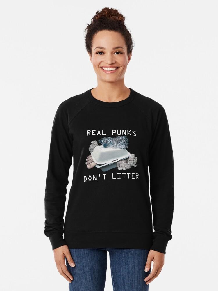 Alternate view of Dystopian Detritals (Oil painting) Lightweight Sweatshirt