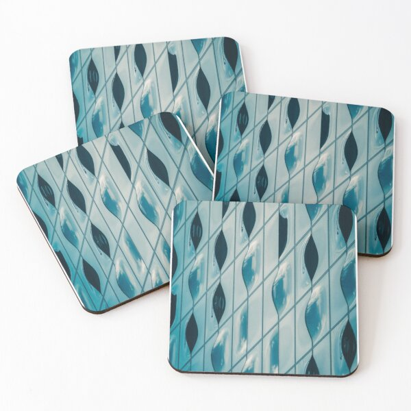 Elbphilharmonie in Hamburg by day, blue sky, pattern / background Coasters (Set of 4)