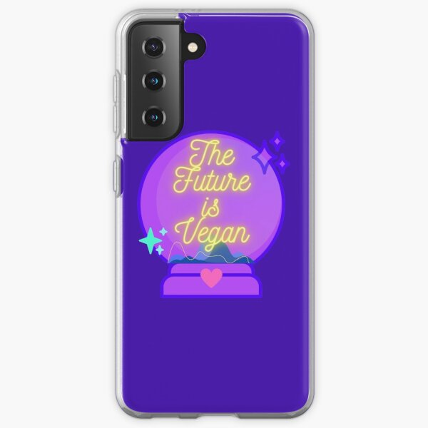 The Future is Vegan Cute Pastel Magical Mystical Crystal Ball Samsung Galaxy Soft Case