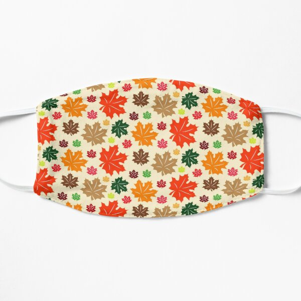 Fall leaves pattern Flat Mask