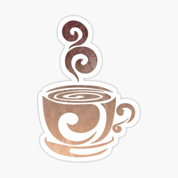 Watercolor Coffee Sticker