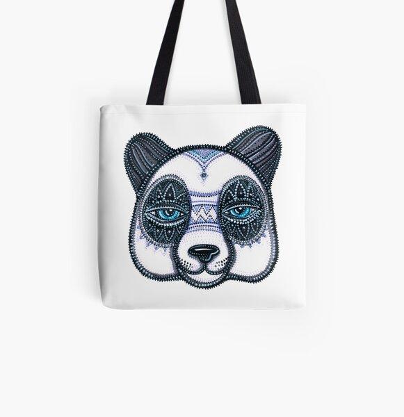 PANDA Allover-Print Tote Bag