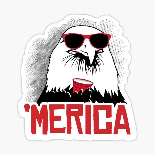 'Merican Eagle Sticker