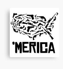 'Merican guns Canvas Print