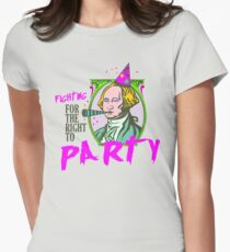 Fighting for the right to party Women's Fitted T-Shirt