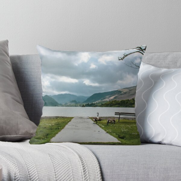Derwent Water, Lake District National Park Throw Pillow