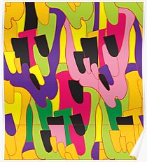 Abstract bright colorful vector pattern Poster