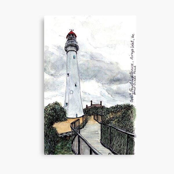 Australian Scene - Split Point Lighthouse, Aireys Inlet, Great Ocean Road, Vic, Aus. Canvas Print