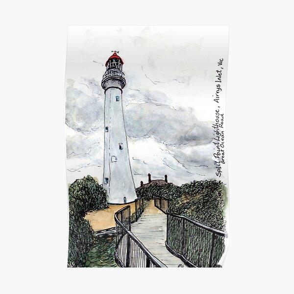 Australian Scene - Split Point Lighthouse, Aireys Inlet, Great Ocean Road, Vic, Aus. Poster