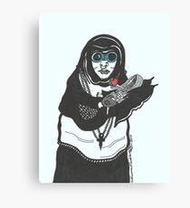 Steampunk Nun Canvas Print