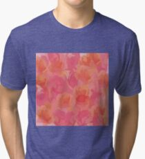 Soft Rose Bouquet Abstract Tri-blend T-Shirt