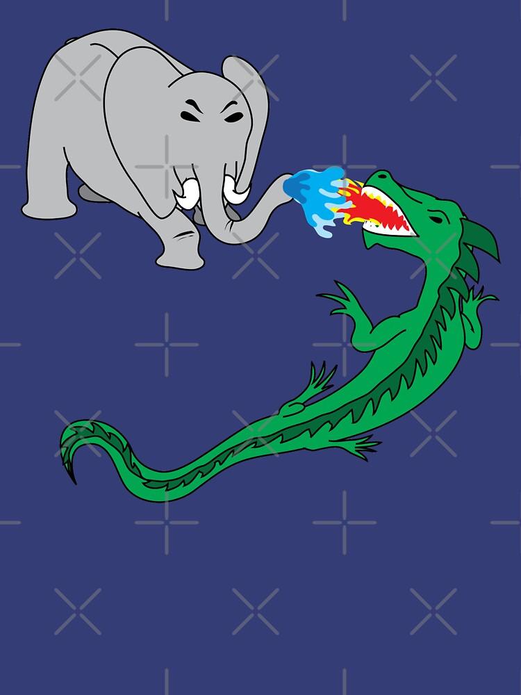 Elephant vs. Dragon by dave-williams