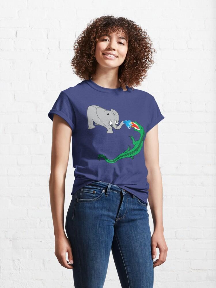 Alternate view of Elephant vs. Dragon Classic T-Shirt