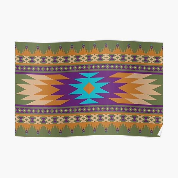 ethnic, ikat, pattern, floral, batik, carpet, design, motif, texture, african, boho, embroidery, abstract, Poster