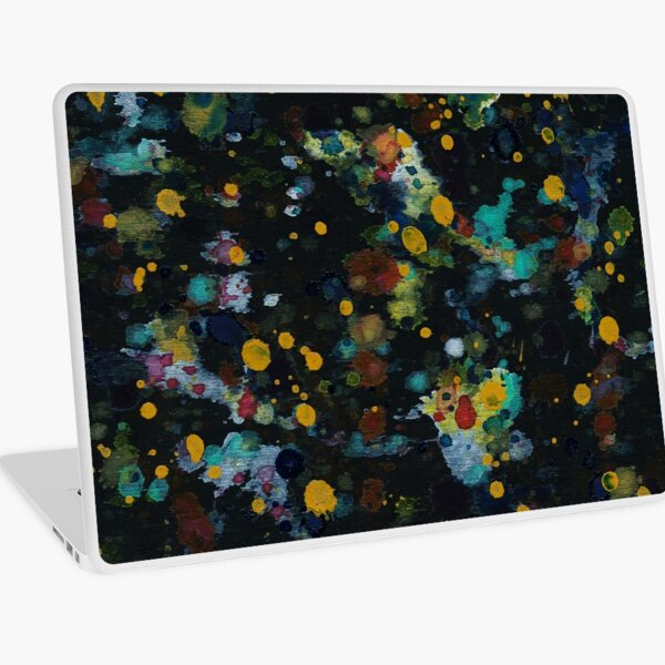 Black Rainbow Watercolor Laptop Skin