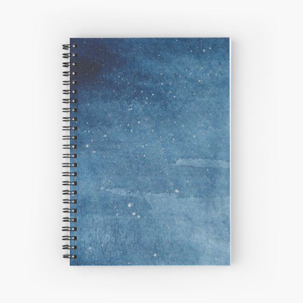 Blue Watercolor Spiral Notebook
