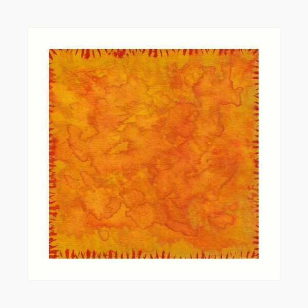 Orange Abstract Watercolor Art Print