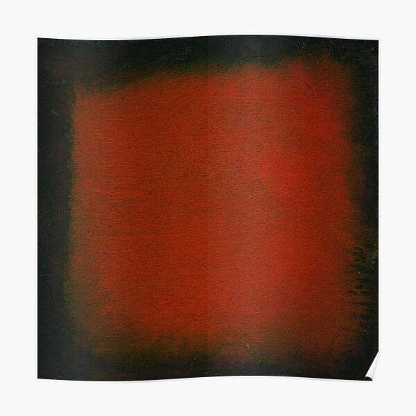 Black and Red Watercolor Poster