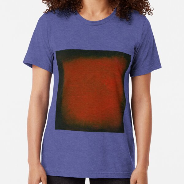 Black and Red Watercolor Tri-blend T-Shirt