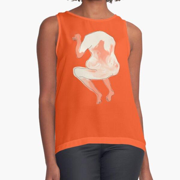 Body Expressions #6 Orange Sleeveless Top
