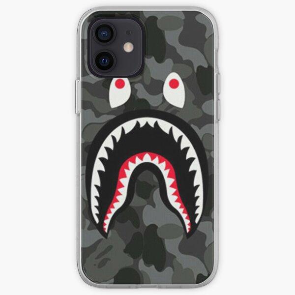 Bape shark Black Army iPhone Soft Case