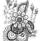 Zentangle Spring Flowers by Love4Lemons