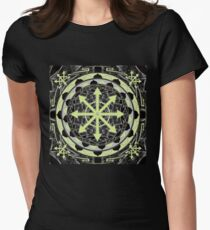 Chaos star mandala 23 Womens Fitted T-Shirt