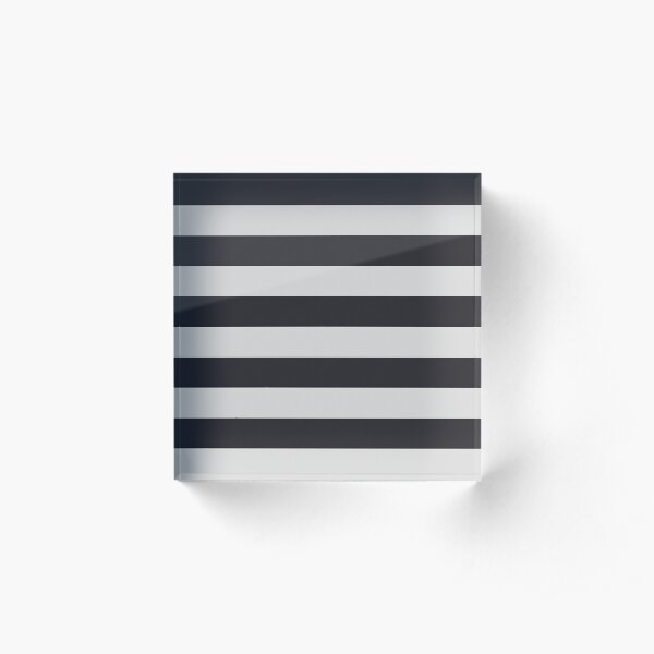 Stripes in navy and grey Acrylic Block