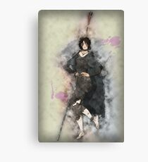 Maiden in Black Posing Canvas Print