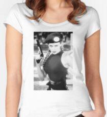 CAMMY STREET FIGHTER KYLIE MINOGUE Women's Fitted Scoop T-Shirt