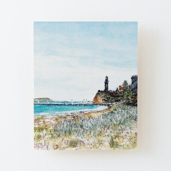 Australian Scene - Pier Beach, Queenscliffe, Vic, Aus. Wood Mounted Print