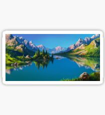 North America Landscape Sticker
