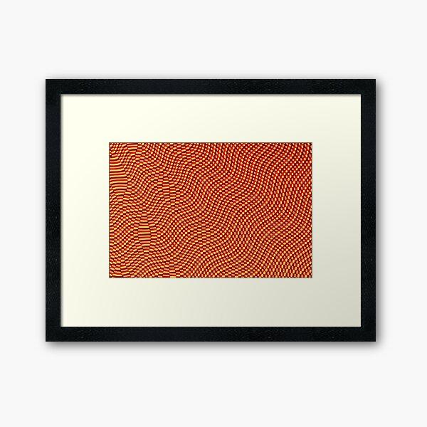 Cube Waves Framed Art Print