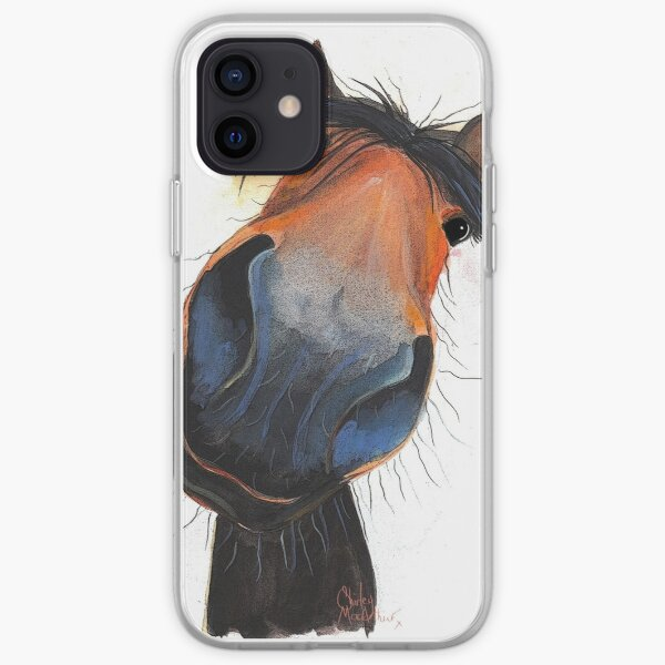 HORSE PRiNT 'HAPPY DAVE' BY SHIRLEY MACARTHUR iPhone Soft Case
