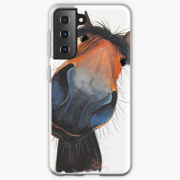 HORSE PRiNT 'HAPPY DAVE' BY SHIRLEY MACARTHUR Samsung Galaxy Soft Case