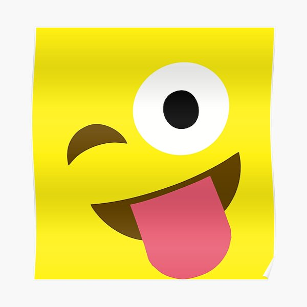Emoji Tongue Out Póster