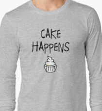 Cake Happens Long Sleeve T-Shirt