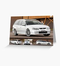 Silver Holden VY Commodore Wagon Greeting Card