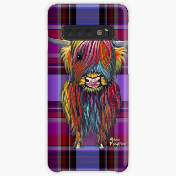 SCoTTiSH HiGHLaND CoW ' TaRTaN BRaVeHeaRT ' by SHiRLeY MacARTHuR Samsung Galaxy Snap Case