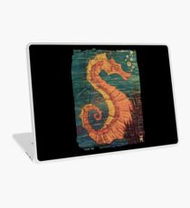 Mystical Horse of the Sea the Seahorse Vintage Laptop Skin
