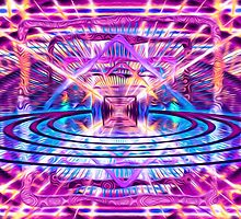 Rave Vision Synesthesia - Psychedelic Geometric Art  by Leah McNeir