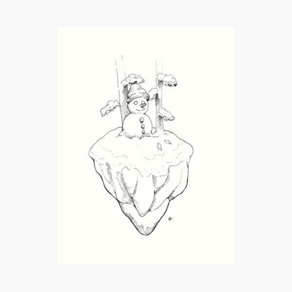 Copia de Muñeco de nieve Sonriente Lámina artística