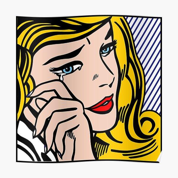 Un pop art vectorizado y reelaborado de Roy Lichtenstein Póster