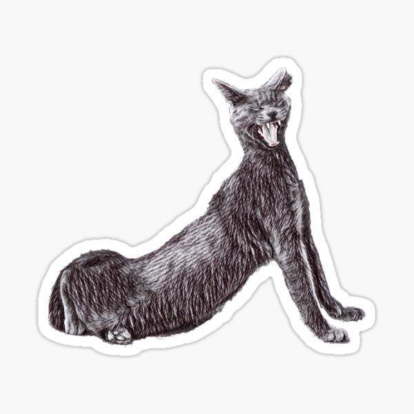 The yawning cat Sticker
