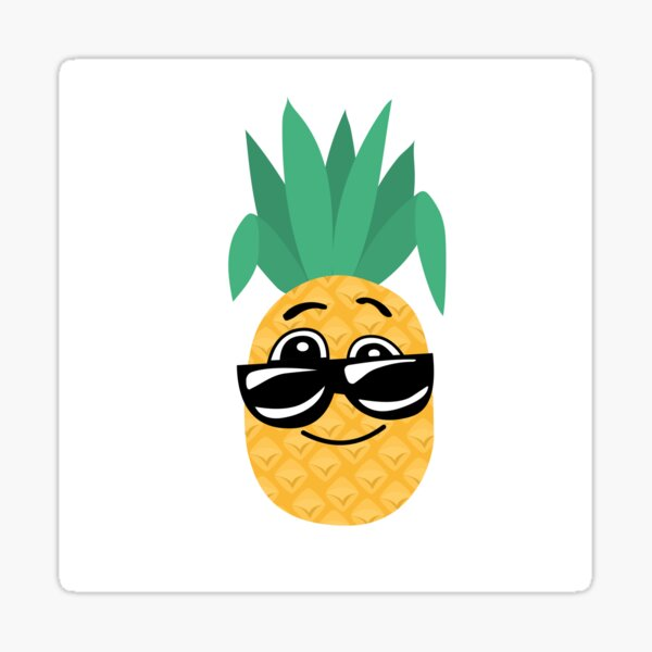Funny pineapple Sticker